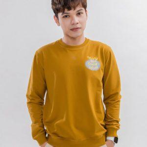 Áo thun tay dài màu cam