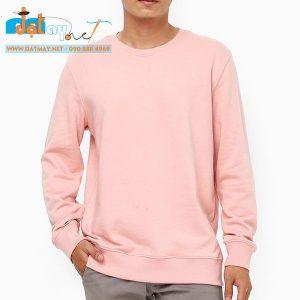 Áo thun tay dài màu hồng