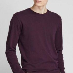 Áo thun tay dài màu tím than