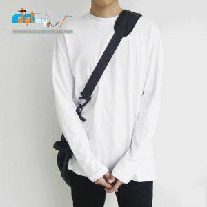 Áo thun tay dài trắng trơn