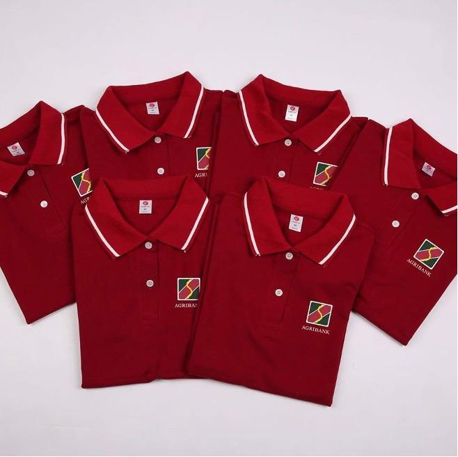 May áo thun đồng phục ngân hàng Agribank