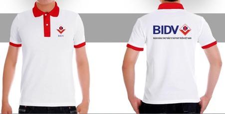 May áo thun đồng phục ngân hàng BIDV